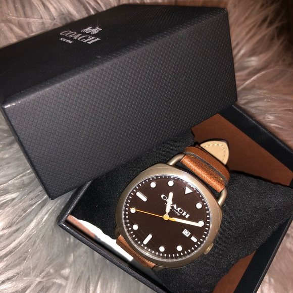 Coach Other - Coach Leather Designer Male Watch